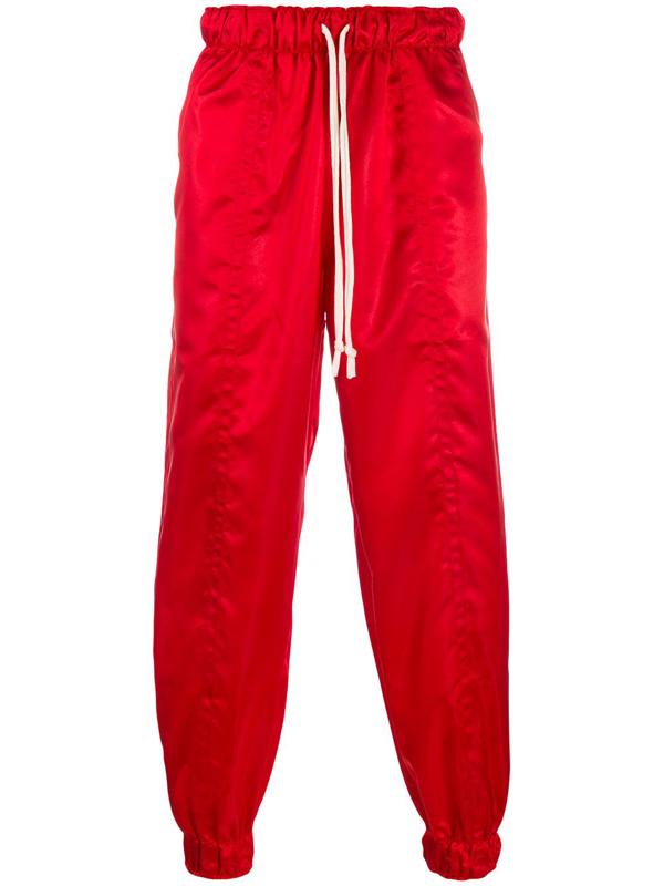 Dima Leu Satin Trousers In Red