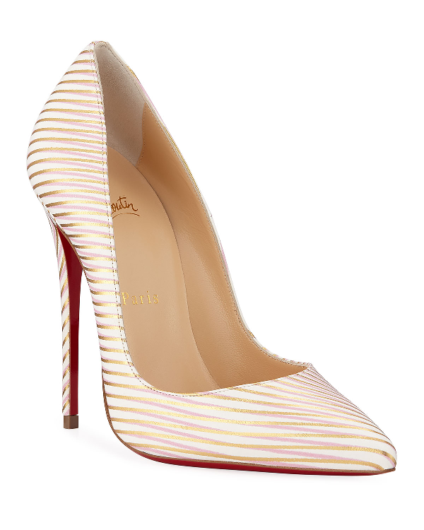 d9d365e3fb5 So Kate 120Mm Painted Leather Red Sole Pumps in White