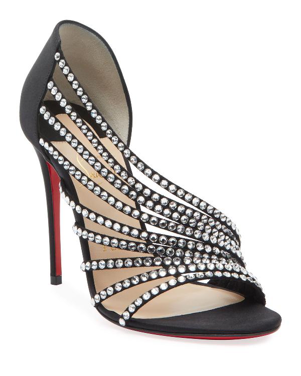 96745fcbb1e Norina Embellished Red Sole Sandals in Black