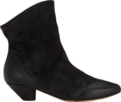 MarsÈLl 'Livelina' Slouchy Deer Leather Ankle Boots