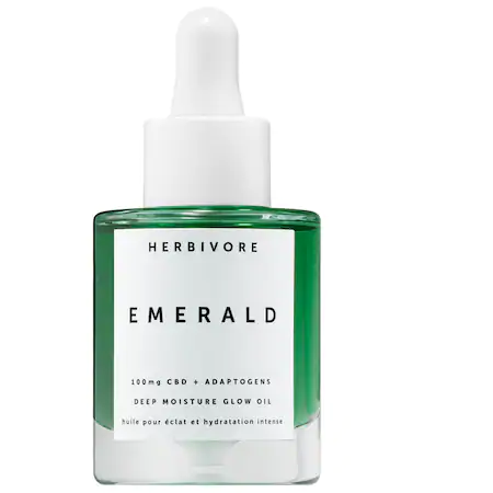 Herbivore Emerald Cbd + Adaptogens Deep Moisture Glow Oil 1 oz/ 30 ml