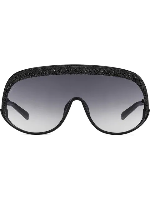 Jimmy Choo Skii Mask Sunglasses In Black