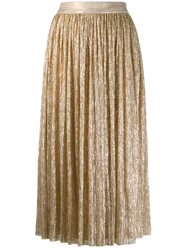 e402c1ad65 Alice And Olivia Alice+Olivia Pleated Skirt - Gold In A742 Gold ...
