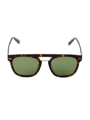Web 51mm Round Flat-top Sunglasses In Dark Havana