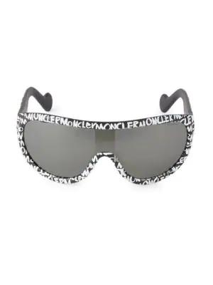 Moncler Men's Injected Logo 51mm Sunglasses In Black