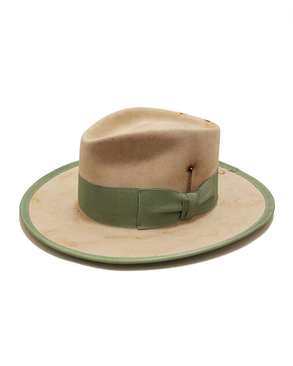 570f9b97 Nick Fouquet Trinidad Lightweight Beaver Felt Fedora Hat In Bone