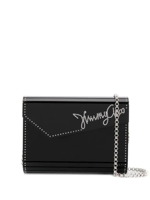 Jimmy Choo Candy Clutch In Black