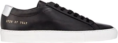 Common Projects Achilles Retro Leather Low-Top Trainers In Black