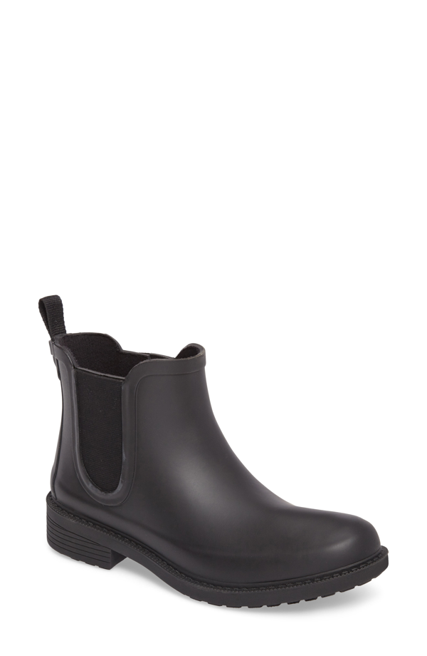 Madewell The Chelsea Rain Boots In True Black