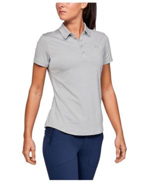 7265ae0b Under Armour Women's Zinger Short Sleeve Golf Polo In Mod Gray ...