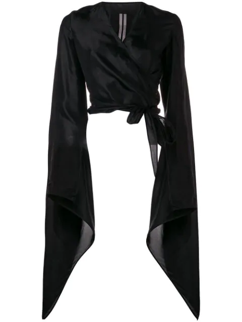 Rick Owens Wrapped Mercury Jacket In Black
