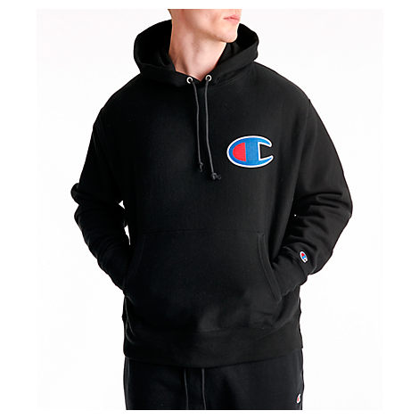 diversified latest designs top-rated original factory outlets Champion Men's Reverse Weave Big C Patch Hoodie In Black Size Medium Cotton