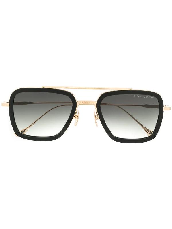 Dita Eyewear Flight .006 Sunglasses In Black