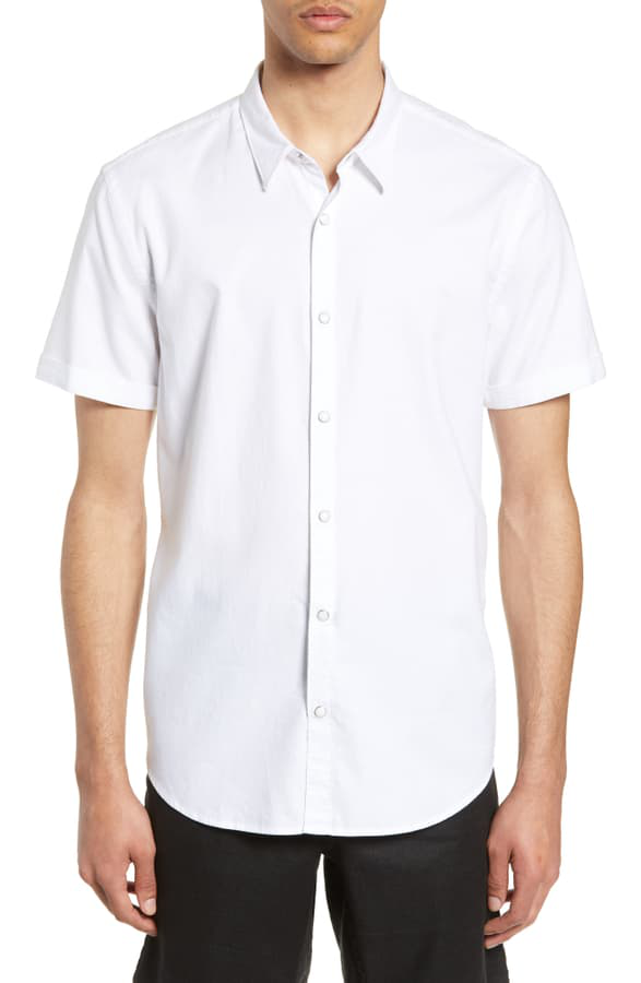 John Varvatos Clark Slim Fit Shirt In White