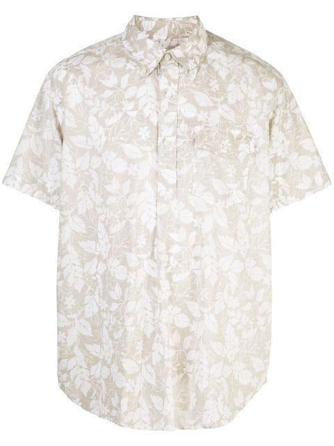 Engineered Garments Floral Short-sleeved Shirt In Brown