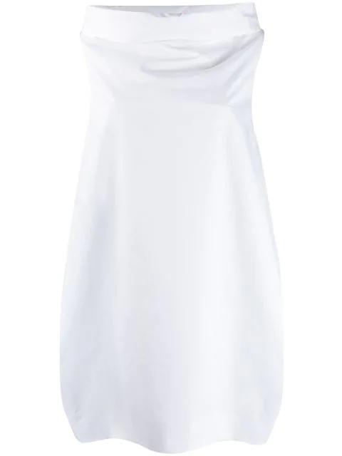 Blanca Ballon-styled Evening Dress In White