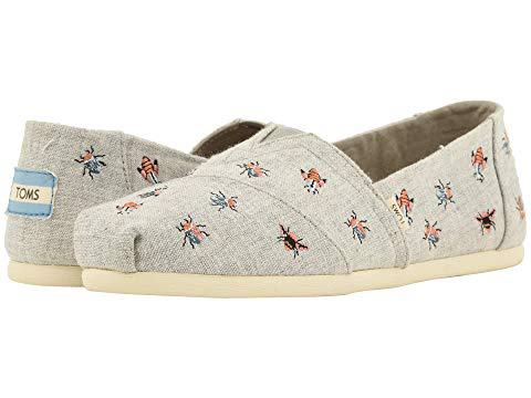 Toms , Drizzle Grey Chambray/Embroidery (Vegan)
