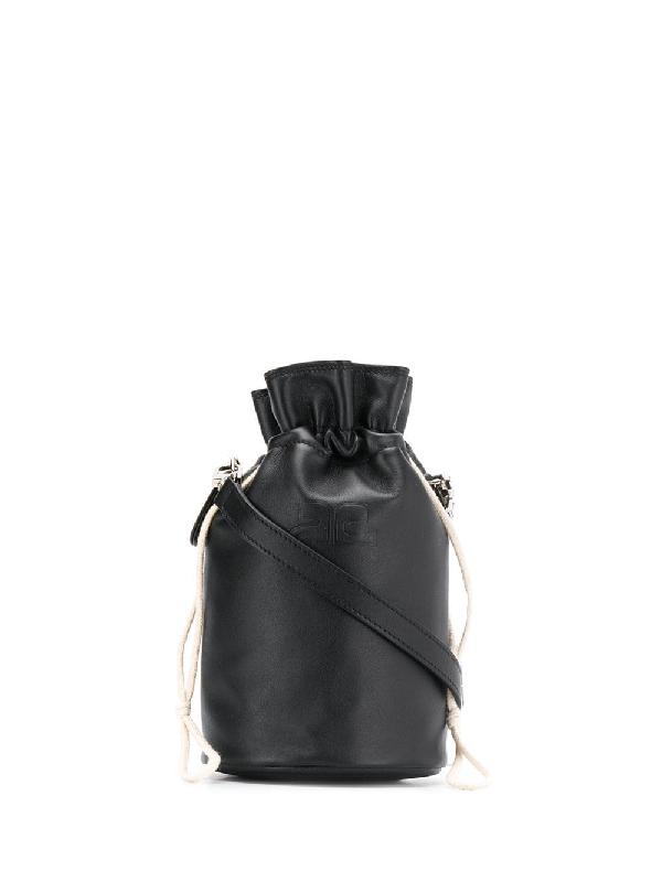 8c5a5bb2a CourrÈGes Iconique Bucket Bag - Black | ModeSens