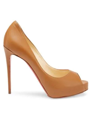 2768bef8391 Christian Louboutin New Very PrivÉ 120 Leather Peep Toe Pumps In ...