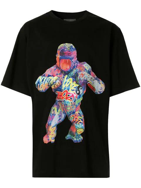 Juun.j Gorilla T-shirt In Black