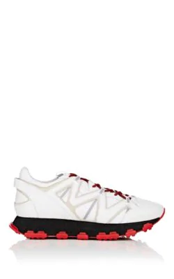 Lanvin Chunky Leather Sneakers In White