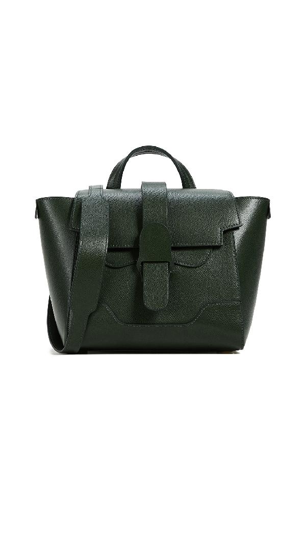 Senreve Mini Maestra Leather Satchel - Black