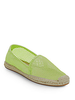 Rebecca Minkoff Ginny Espadrille Flats, Chartreuse In Yellow