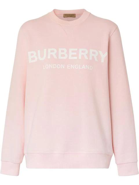 Burberry Fairhall Logo Print Sweatshirt In Pink