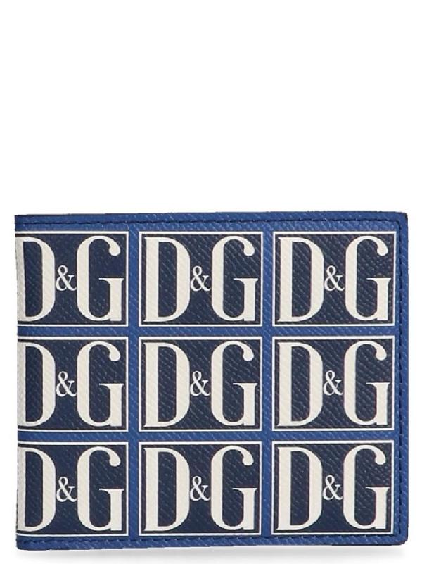 dad28774 Dolce & Gabbana Logo Wallet In Blue | ModeSens