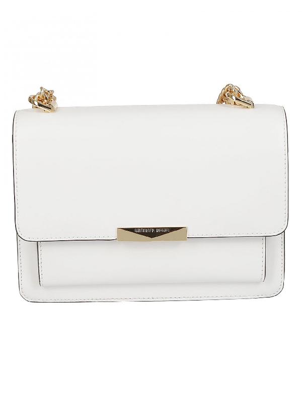 0547026fe89ea9 Michael Michael Kors Jade Large Shoulder Bag In White   ModeSens