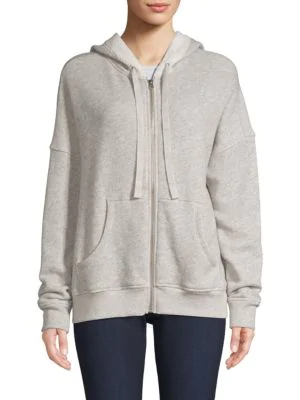 Atm Anthony Thomas Melillo French Terry Hoodie In Heather Grey