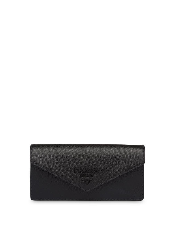 1ec77be0daec Prada Monochrome Saffiano Clutch Bag - Black In F0002 Black | ModeSens