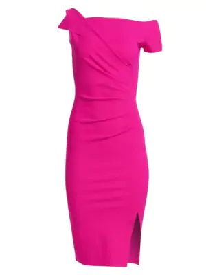 dad1833c78e Chiara Boni La Petite Robe Affie Ruched Dress In Azalea Pink