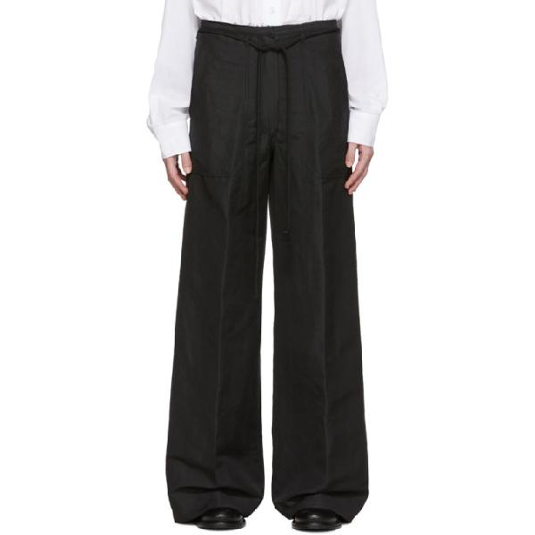 Ann Demeulemeester Black Francis Wide-leg Trousers