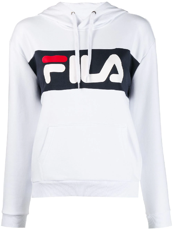 349ffe437a9f Fila Logo Hoodie - White | ModeSens