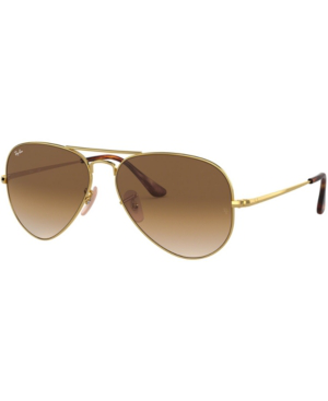 Ray Ban Ray-Ban Unisex  Rb3689 -  Frame Color: Gold, Lens Color: Light Brown Gradient, Size 58-14/140 In Gold/Clear Gradient Brown