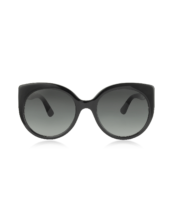 a4f2cdee74c6d Gucci Cat-Eye Acetate Sunglasses In Black