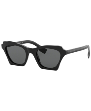 Burberry Square Acetate Sunglasses In Black / Grey