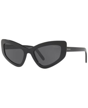 Prada Sunglasses, Pr 11Vs 55 In Black//Grey
