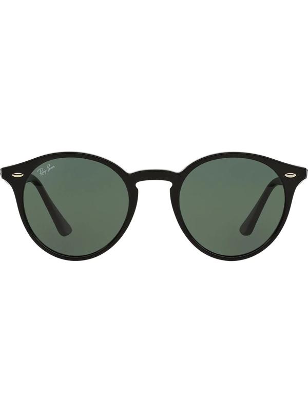 Ray Ban Highstreet 51mm Round Sunglasses - Black