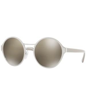 Prada Sunglasses, Pr 57Ts In Silver/Brown Mirror