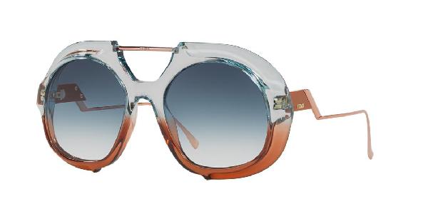 bf108126b8e43 Fendi Women s Brow Bar Round Sunglasses
