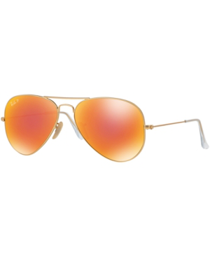 Ray Ban Ray-ban Original Aviator Mirrored Sunglasses, Rb3025 62 In Gold