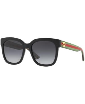 Gucci Sunglasses, Gg0034S In Black/Grey Gradient
