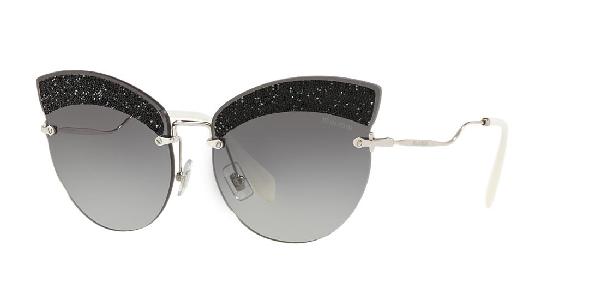 abd7a8a889f5 Miu Miu Scenique Evolution 65Mm Cat Eye Sunglasses - Silver Gradient In  Silver / Grey Gradient