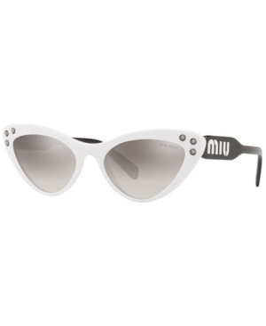 e41d0abb3c23 MIU MIU. Women's Embellished Mirrored Gradient Cat Eye Sunglasses ...