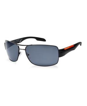Prada Polarized Sunglasses, Ps 53ns In Black/grey