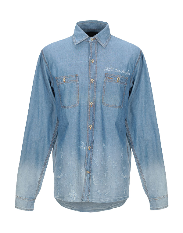 Htc Denim Shirt In Blue