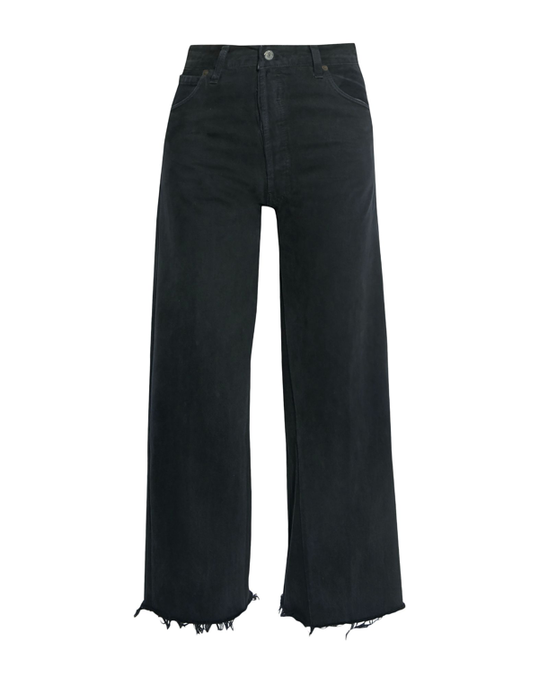 Re/done By Levi's Denim Pants In Black