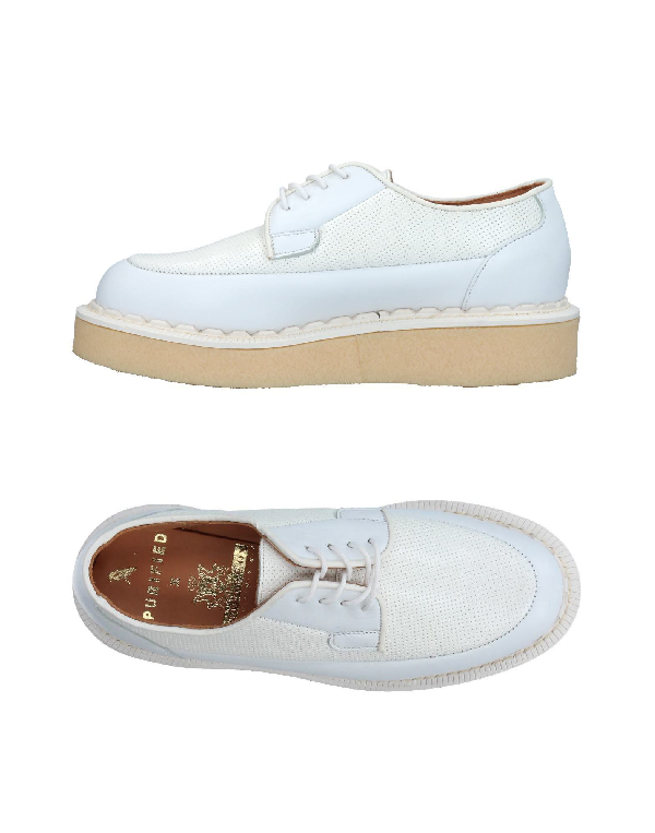 Purified Laced Shoes In White